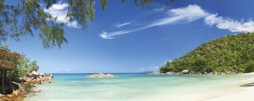 Constance Lemuria beach view Seychellerne VoyaTravel