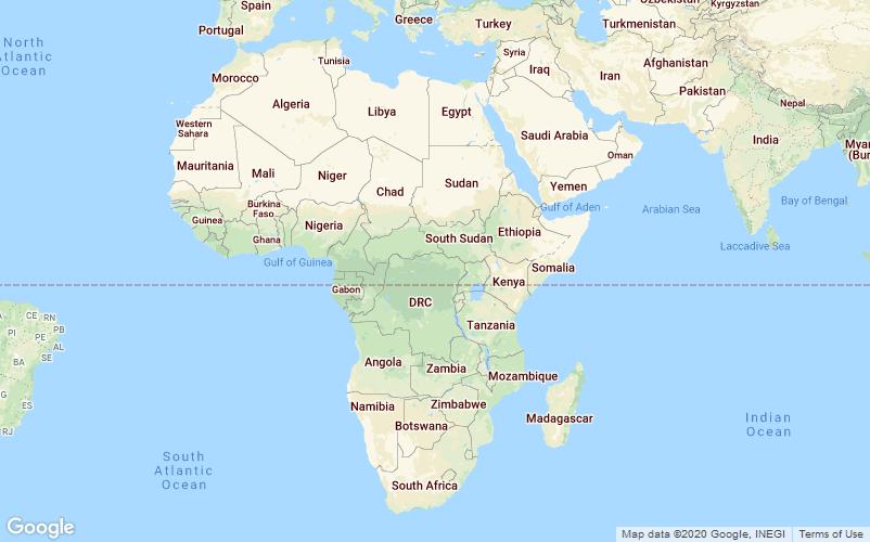 Afrika kort