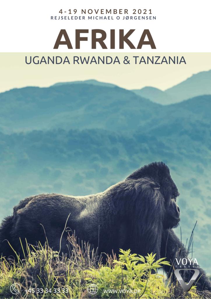 Rundrejse med rejseleder til Rwanda, Uganda, Tanzania