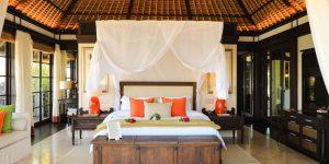 Fregate Island Voya Travel Villa soveværelse