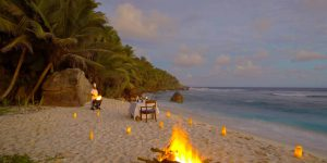 Fregate Island Voya Travel dinner beach