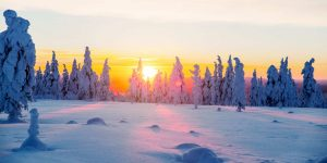 Kakslauttanen-Sunset-January