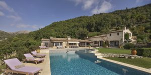 Pool view of the villa