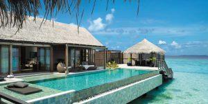 Shangri-La Villingili - Villa Muthee deck and infinity pool