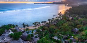 Shanti Maurice_Aerial Resort Picture at sunset overlooking the Ocean_05.11.20